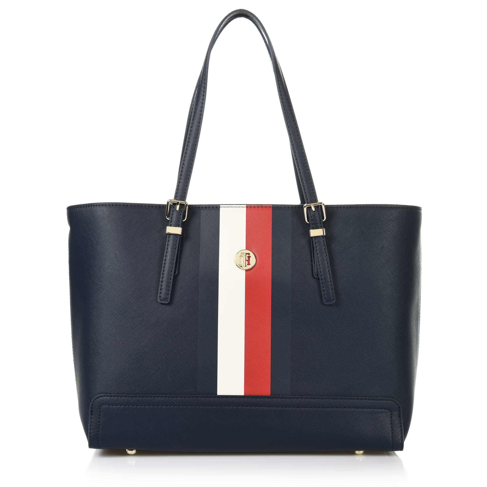 Tote Τσάντα Tommy Hilfiger Honey Med Tote Corp AW0AW06867