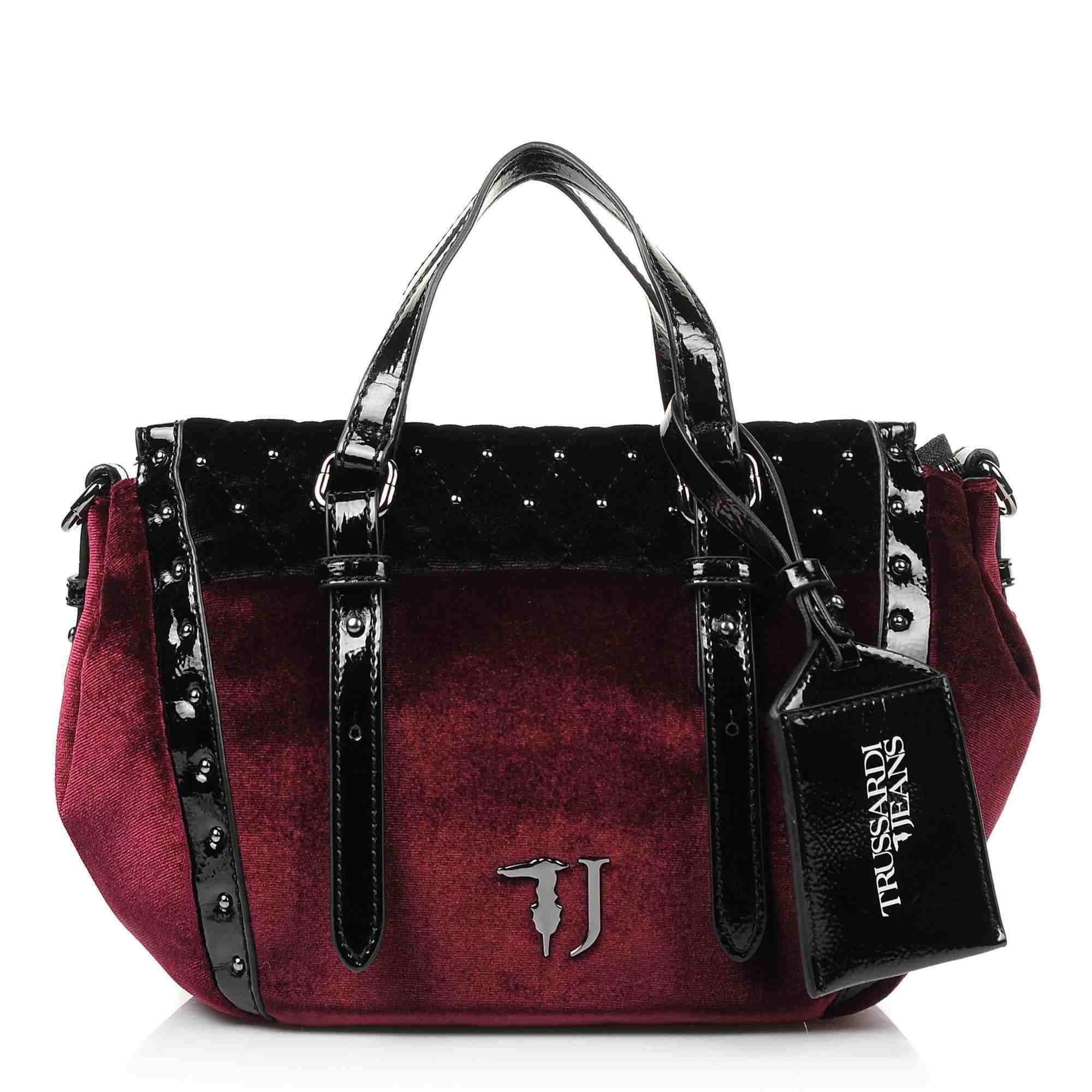 Tote Τσάντα Trussardi Jeans Portulaca Shoulder Bag Velvet 75B00538