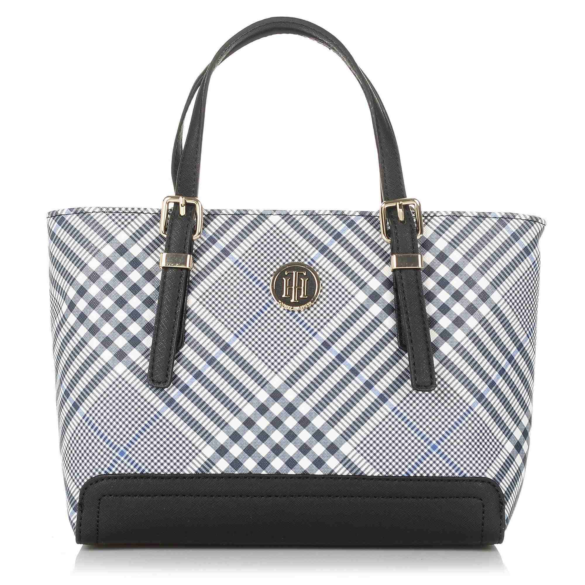 Tote Τσάντα Tommy Hilfiger Honey Sm Tote Print ΑW0AW06041