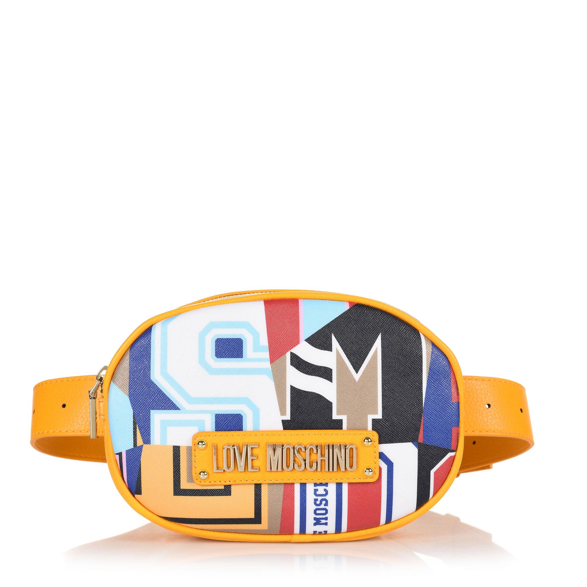 Τσάντα Μέσης Love Moschino Graphic Saffiano JC4051PP17LE