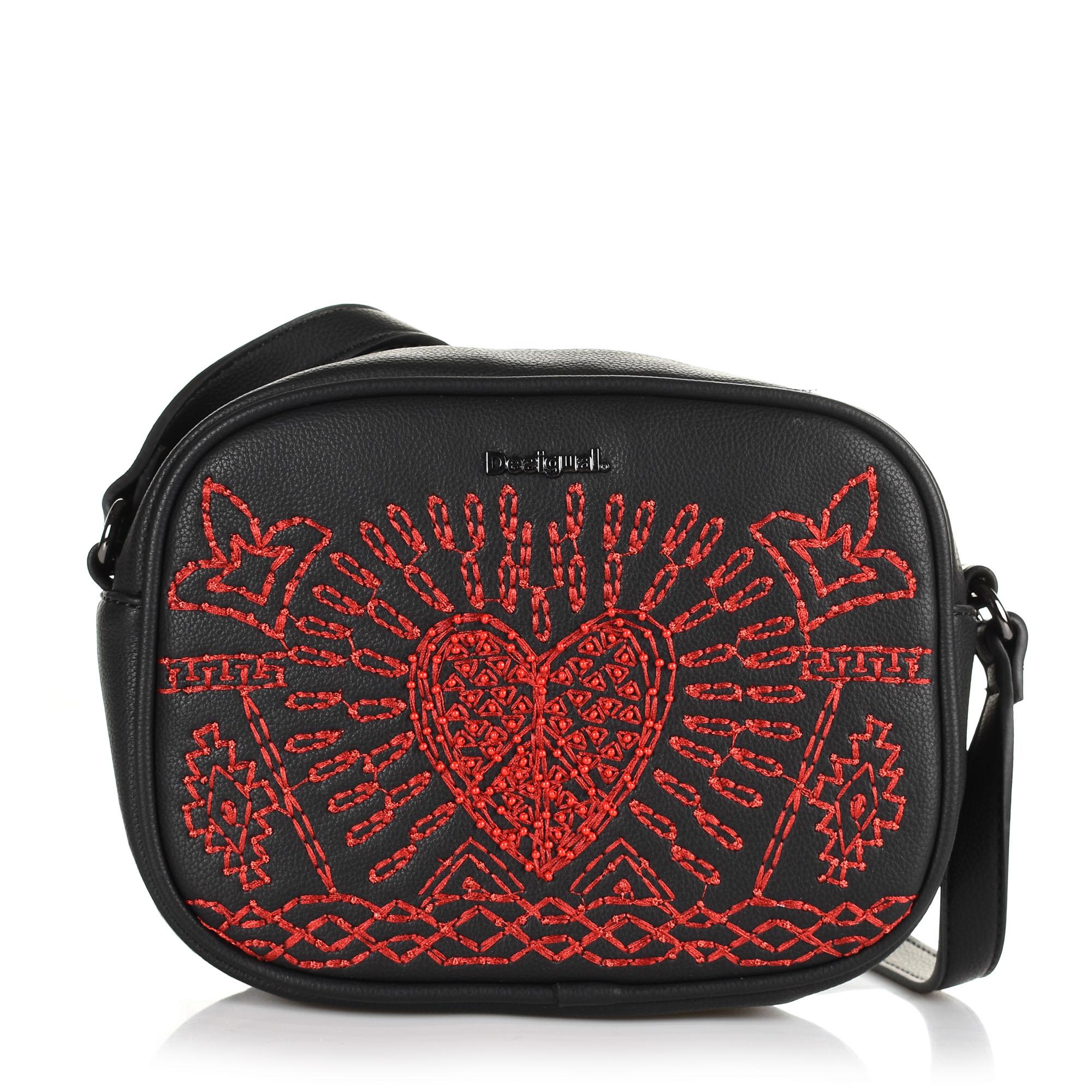 Τσάντα Ώμου-Χιαστί Desigual Bols_Beating Heart Virginia 19WAXPB2