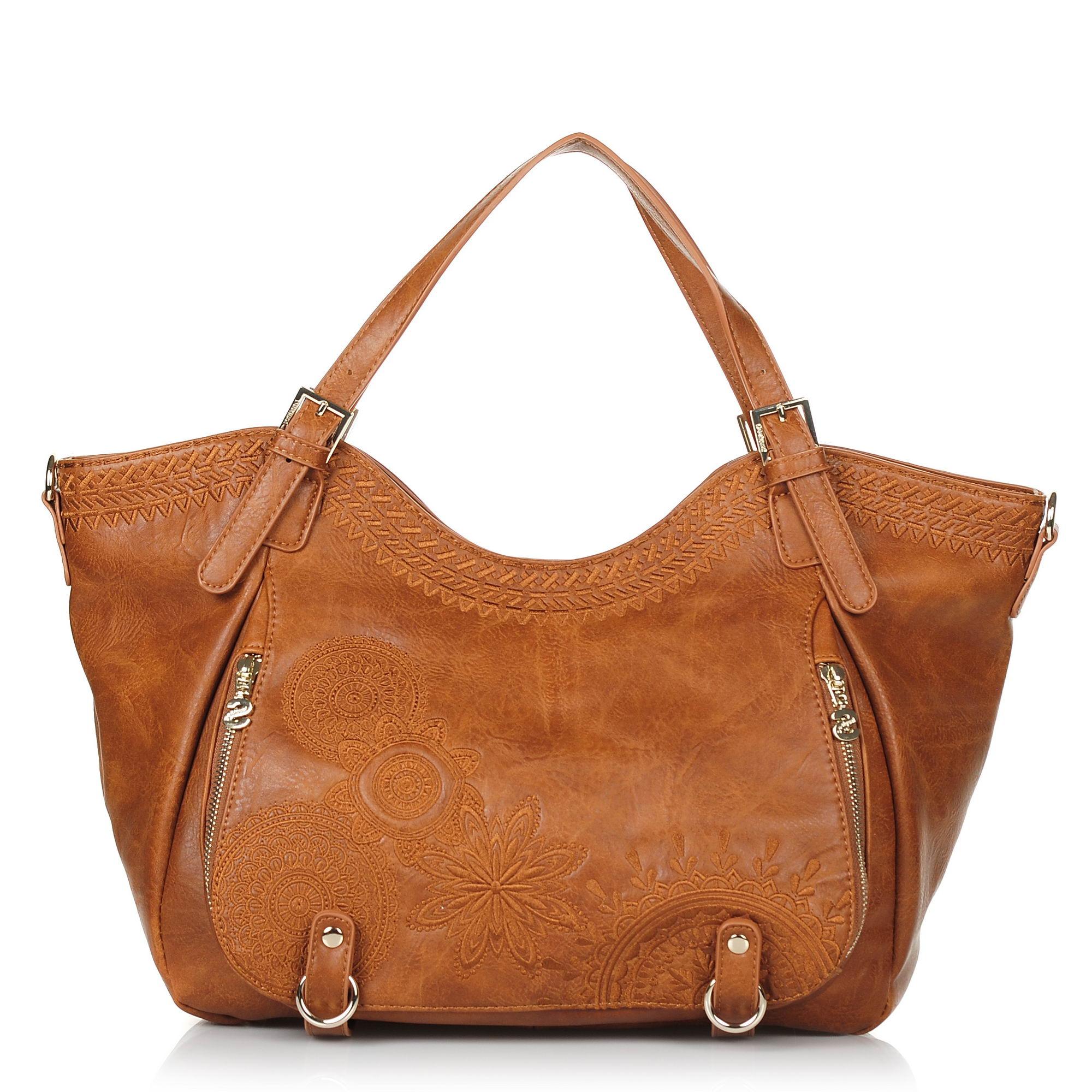 Τσάντα Ώμου Desigual Bols Dark Amber Rotterdam 18WAXPB5