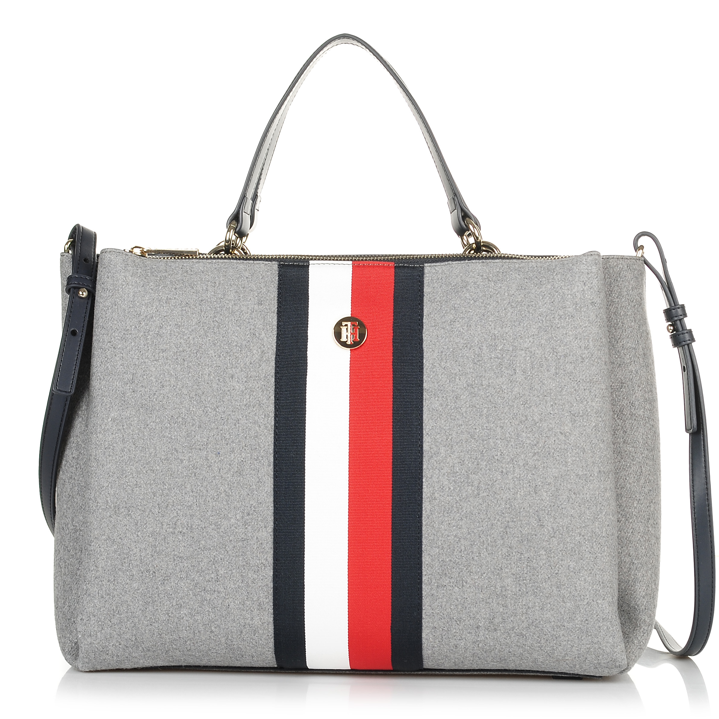 Τσάντα Τote-Ώμου Tommy Hilfiger Effortless Tommy Sat AW0AW06040