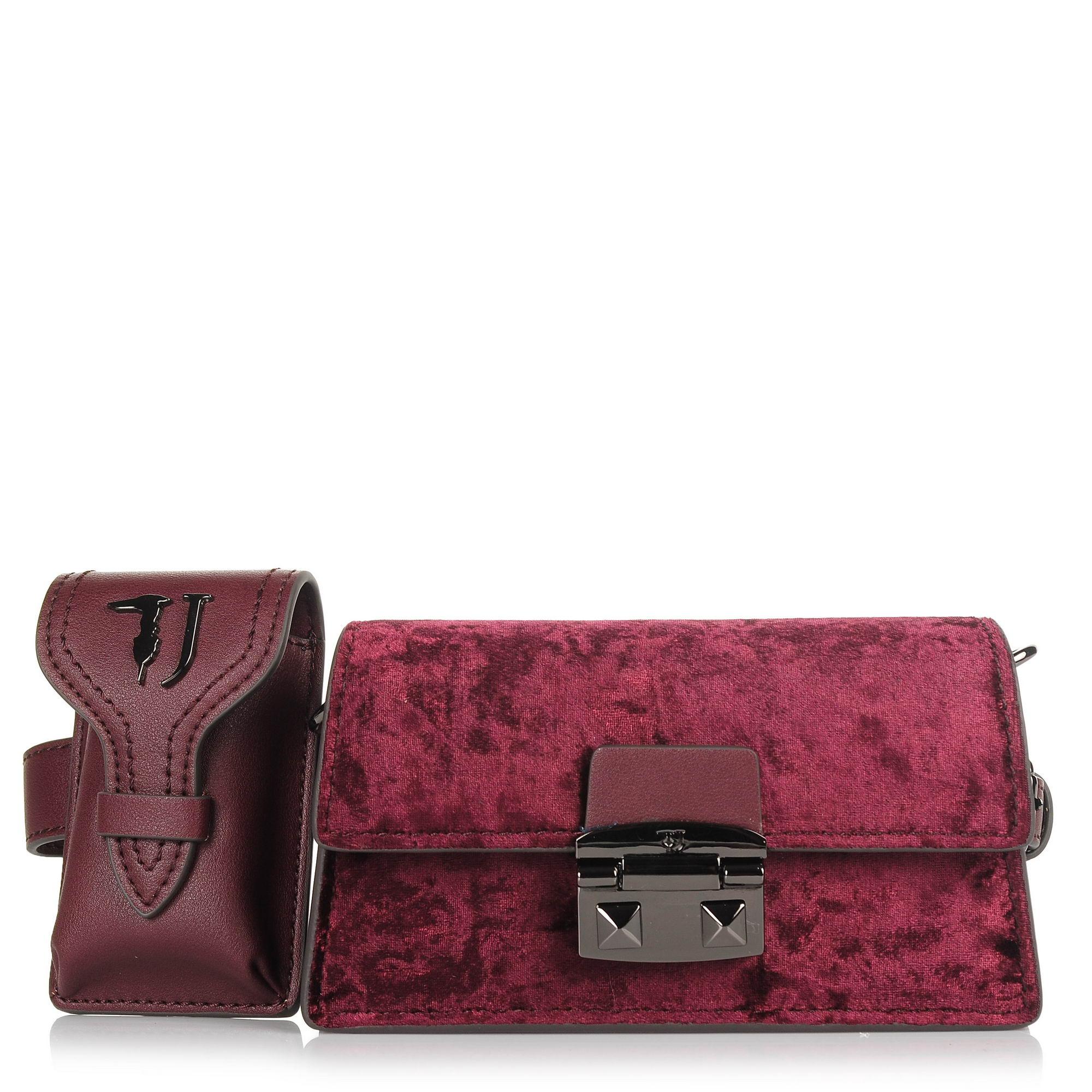 Τσαντάκι Μέσης-Χιαστί Trussardi Jeans Coriandolo Belt Bag Ecoleather/Velvet 75W00502