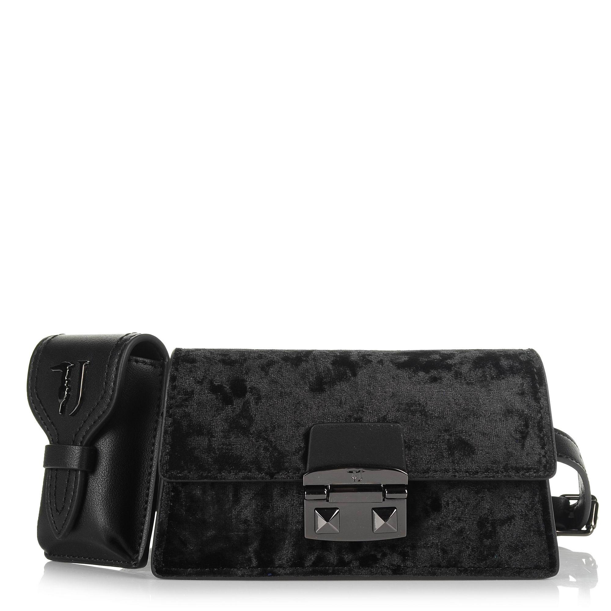 8a619cd775 Τσαντάκι Μέσης-Χιαστί Trussardi Jeans Coriandolo Belt Bag Ecoleather Velvet  75W0