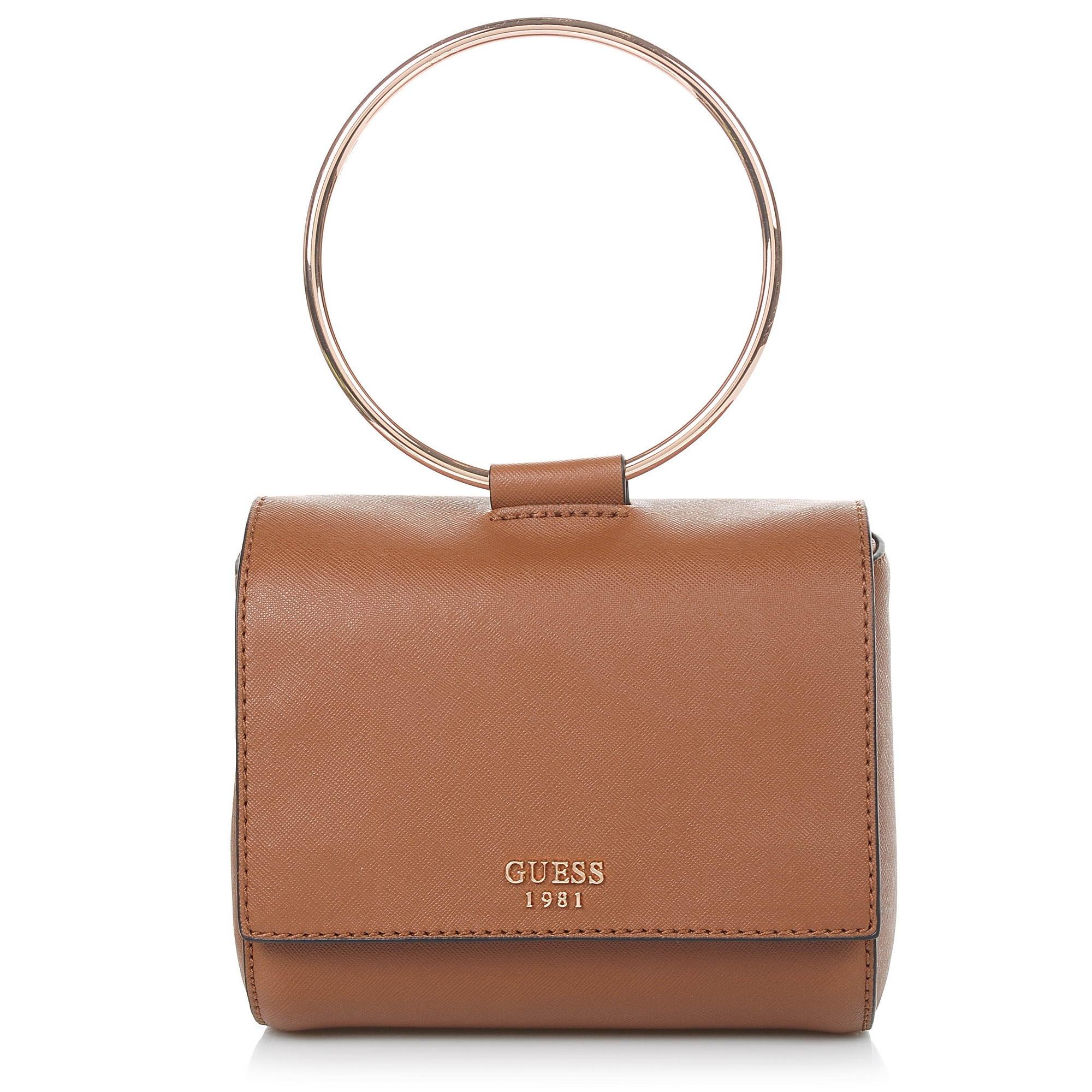 Τσαντάκι Ώμου - Χιαστί Guess Keaton Mini VG695878 γυναικα   γυναικεία τσάντα