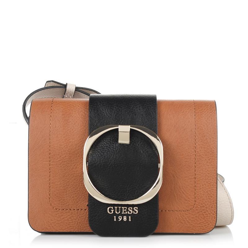 Τσαντάκι Ώμου - Χιαστί Guess Mooney Mini 678478 γυναικα   γυναικεία τσάντα