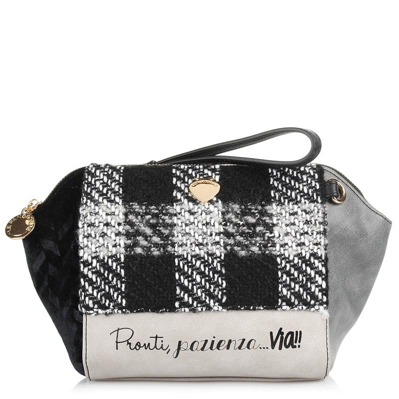 Τσαντάκι Ώμου - Χιαστί Le Pandorine Via Pon Pon Mini 2.0 DAF020 γυναικα   γυναικεία τσάντα