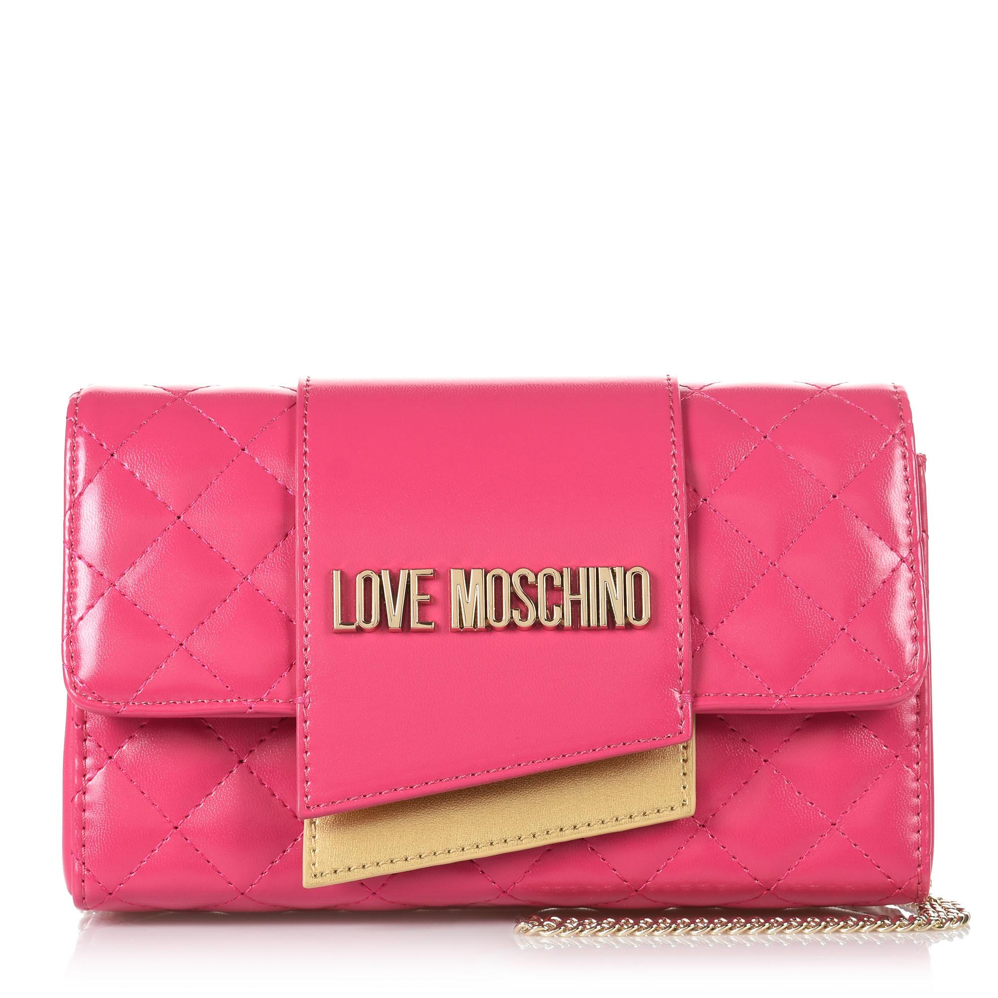 Τσαντάκι Ώμου-Χιαστί Love Moschino Borsa Quilted Nappa JC4295PP07KA