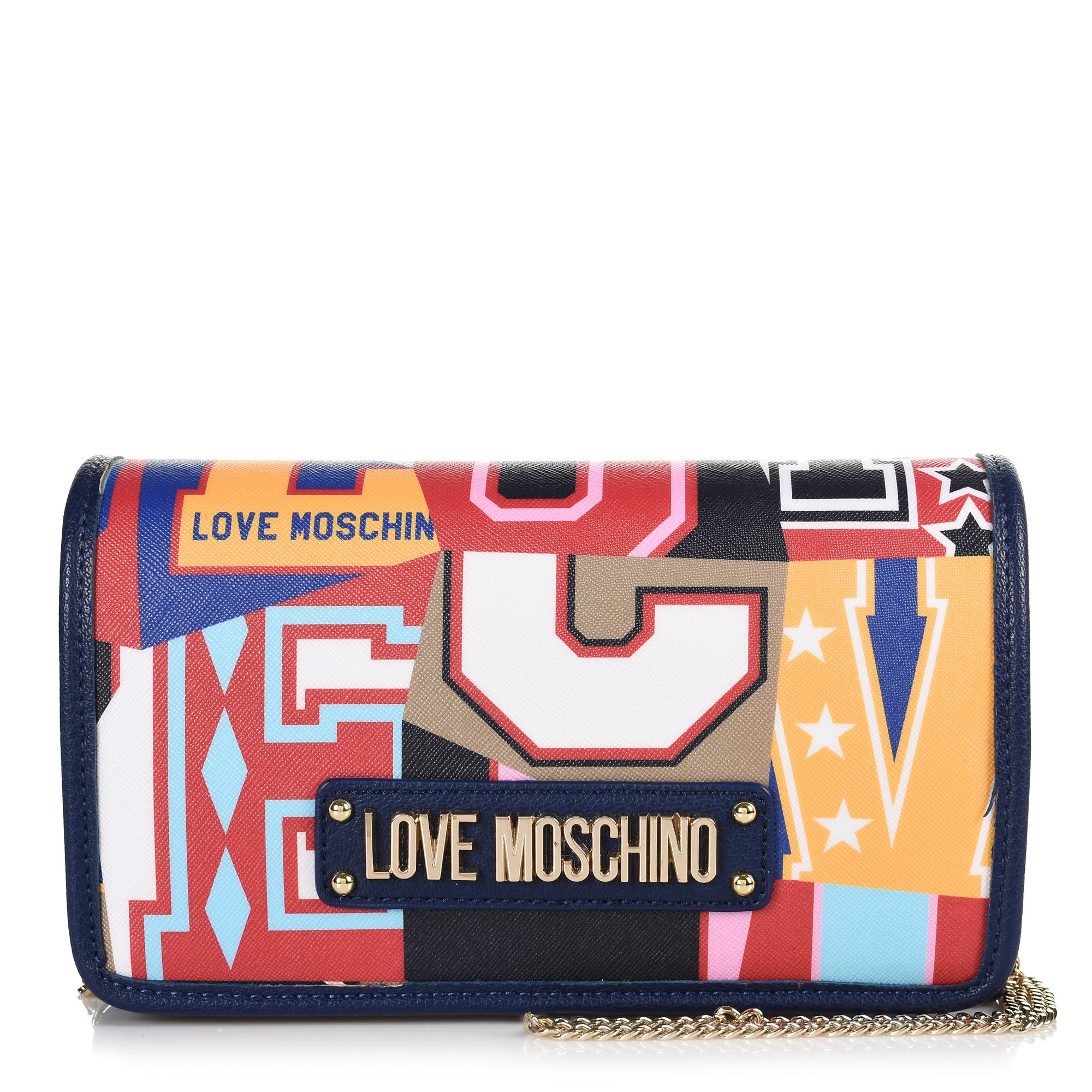 Τσαντάκι Ώμου-Χιαστί Love Moschino Graphic Saffiano JC4054PP17LE