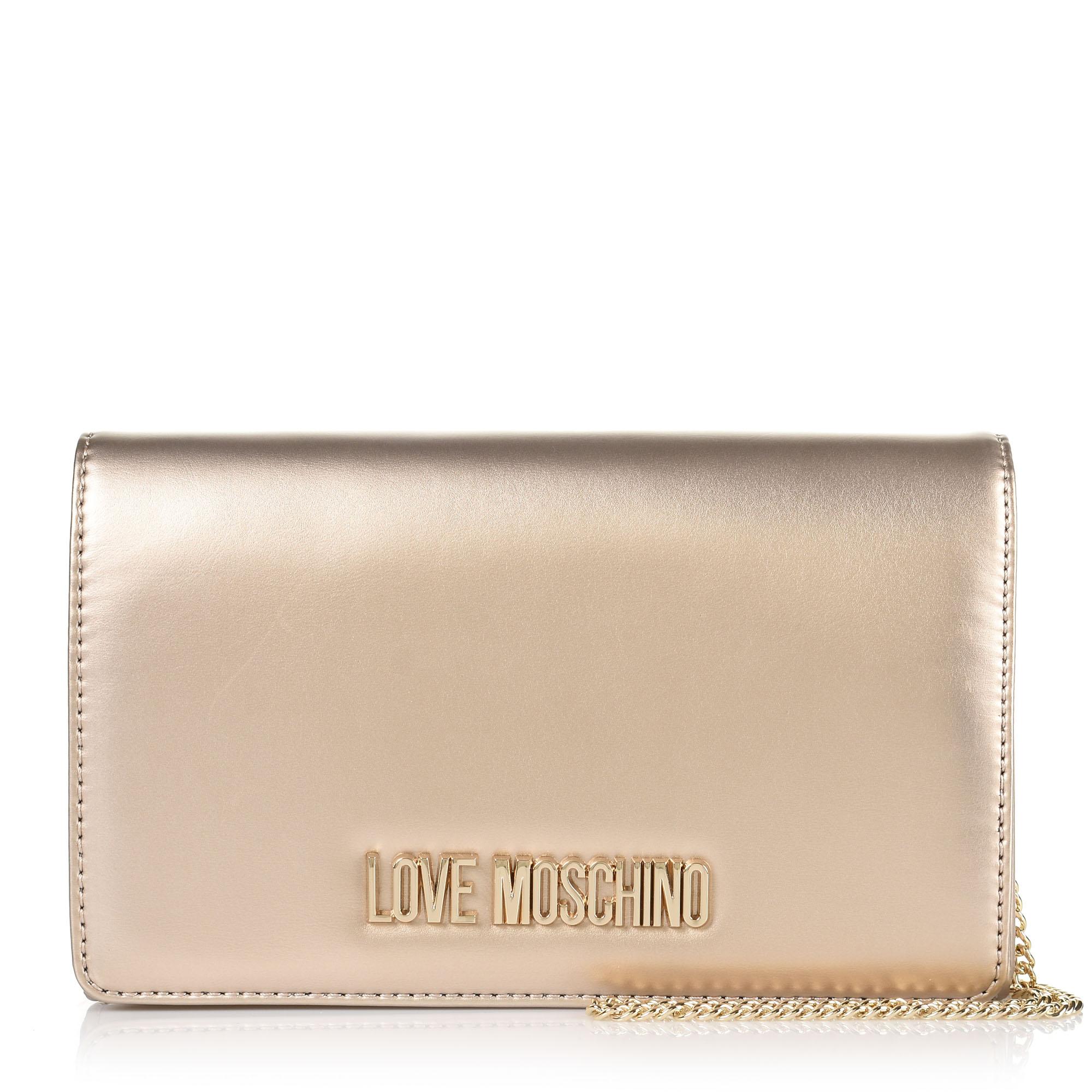 Τσαντάκι Ώμου-Χιαστί Love Moschino Metallic JC4126PP18LY