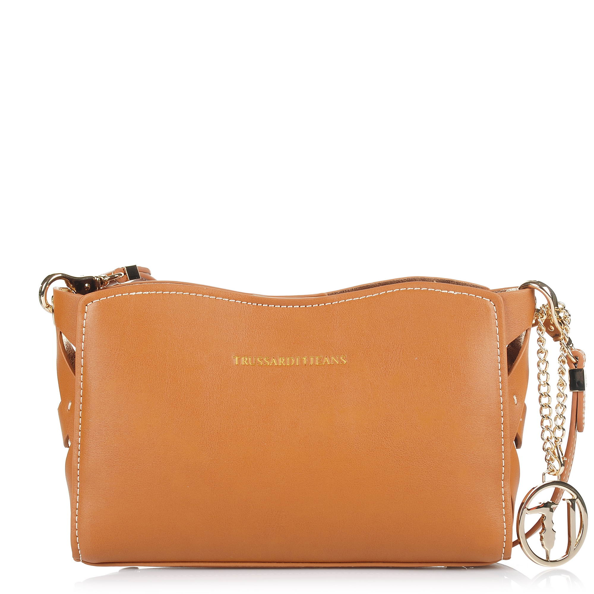 Τσαντάκι Ώμου – Χιαστί Trussardi Jeans Dahlia Smooth Ecoleather Printed Canvas Mini Bag 75B00340