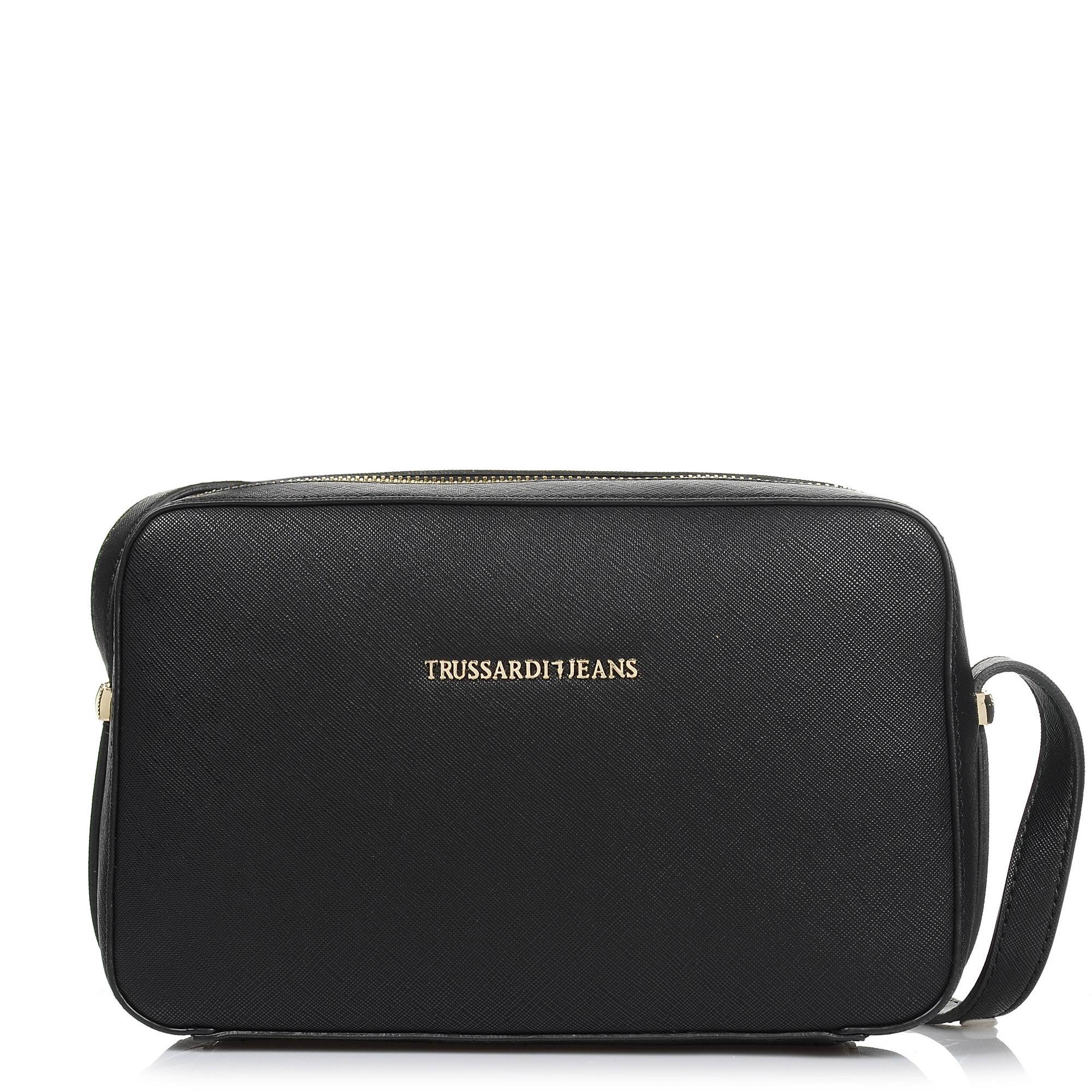 Τσαντάκι Ώμου – Χιαστί Trussardi Jeans Levanto Ecosaffiano Crossbody Bag 75B00020